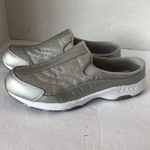 Easy Spirit Traveltime silver mule clog sneaker